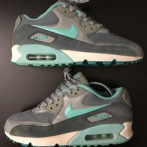 Nike Air Max 90 AM90 Silver Turquoise Off White 9